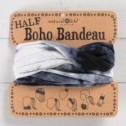 Natural Life Half Boho Bandeau White & Black Tie-Dye