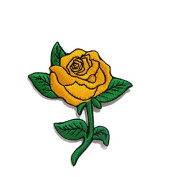 Yollow Rose Love Valentine DIY Embroidered Sew Iron on Patch