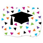 Hats Off Grad - Graduation Squiggle Party Sticker Labels