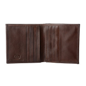Antica Toscana Small Wallet for Men Bifold in Real Leather with Coin Pocket 8 Credit Card Holder and 2 Banknote Holders Chestnut