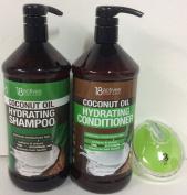 18 Actives coconut oil Hydrating shampoo & conditioner 33 fl oz/1000 ml each