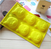 . 3D Cute Winnie the Pooh Shape FDA Silicone cake chocolate soap silicone mould mould DIY Jelly pudding mould